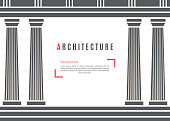 Architecture greek temple background