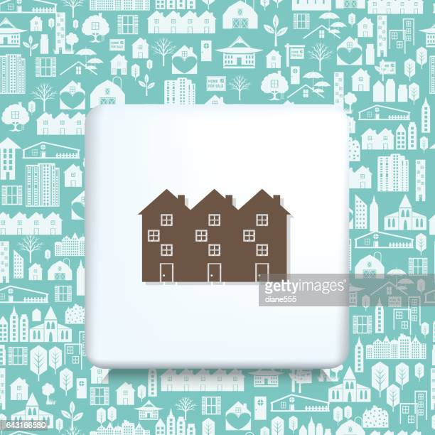 Architecture Icons Over a Real Estate Pattern Background