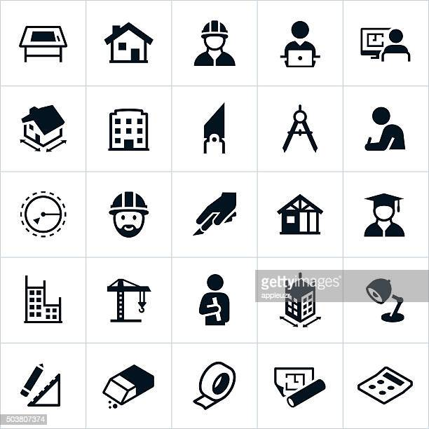 architecture icons - architecture stock illustrations, clip art, cartoons, & icons