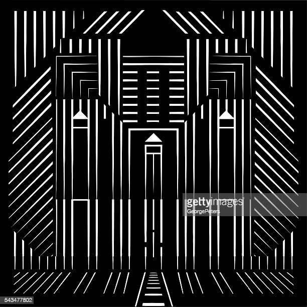 Architektur Spiegelmuster Hintergrund