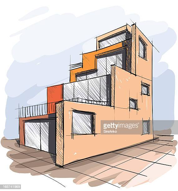architecture - design professional stock illustrations