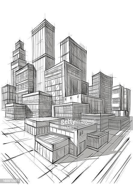 illustrations, cliparts, dessins animés et icônes de l'architecture - gratte ciel
