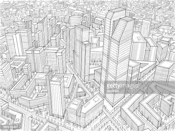 architektur - leben in der stadt stock-grafiken, -clipart, -cartoons und -symbole