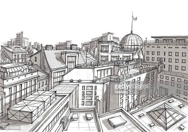 architektur - technische zeichnung stock-grafiken, -clipart, -cartoons und -symbole