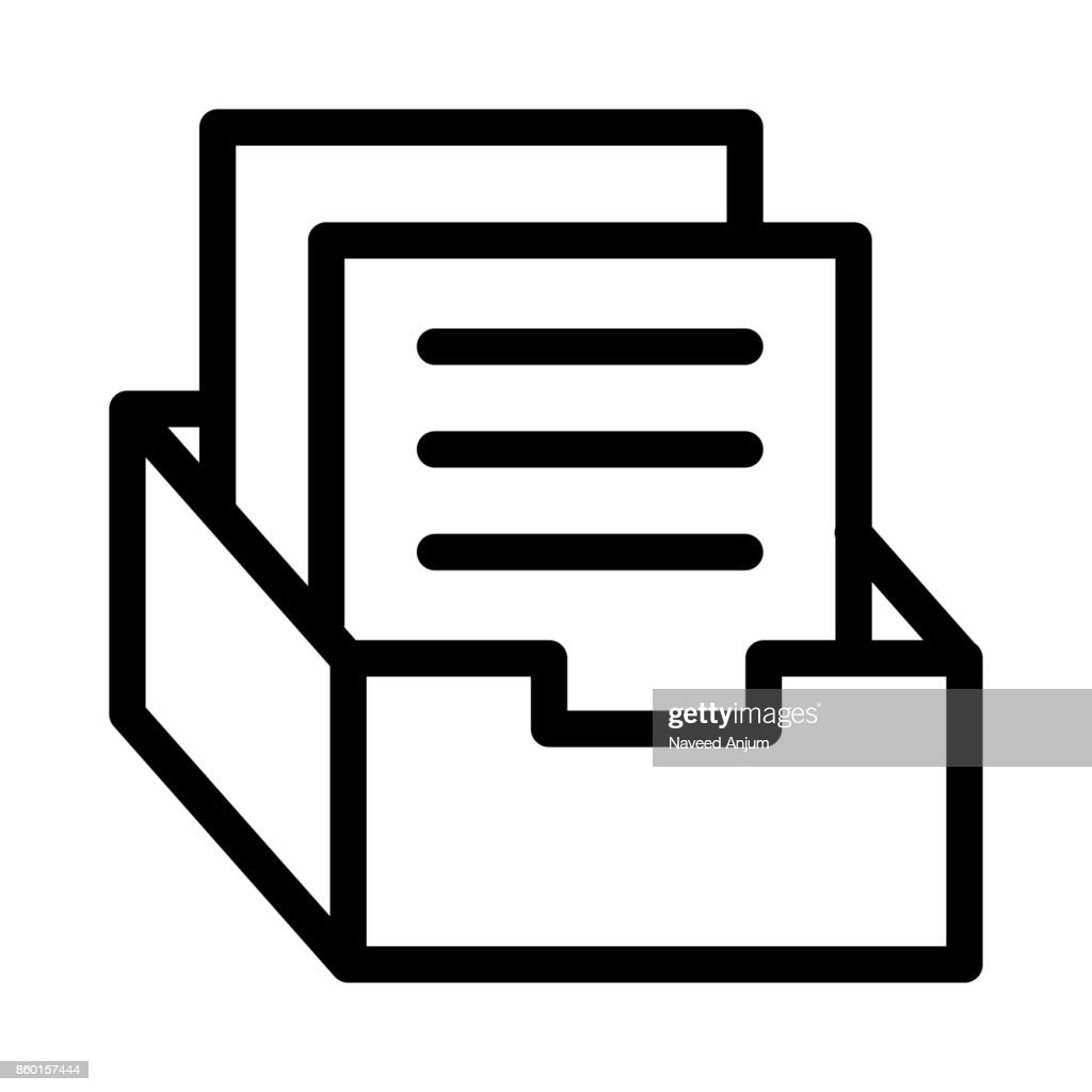 archive Thin Line Vector Icon