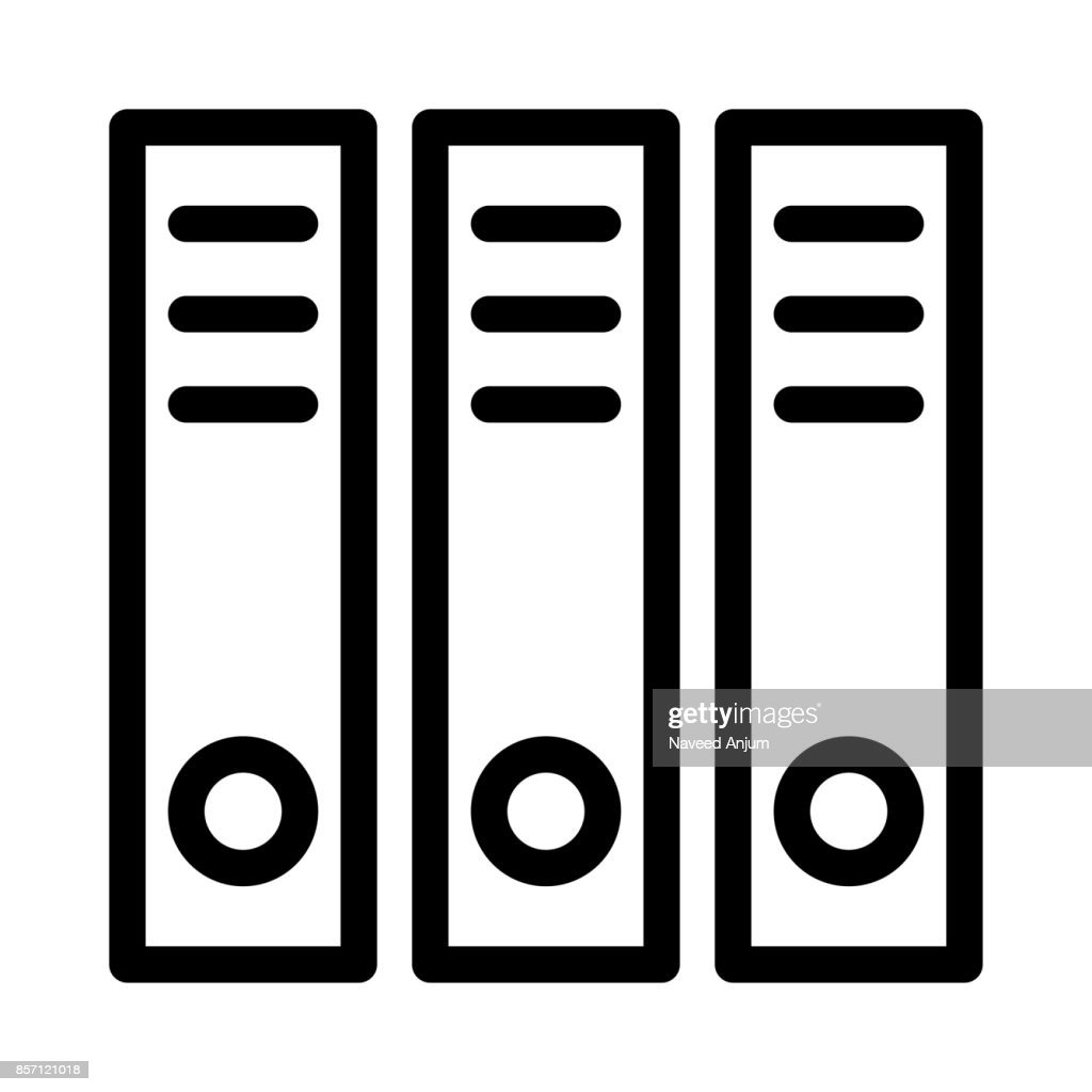 Archive Thin Line Vector Icons