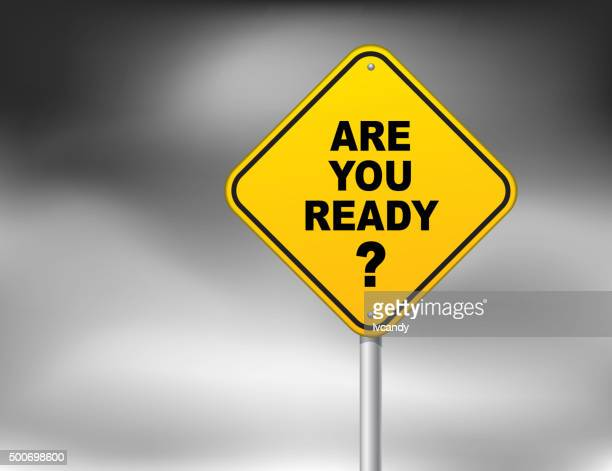are you ready? - preparation stock illustrations