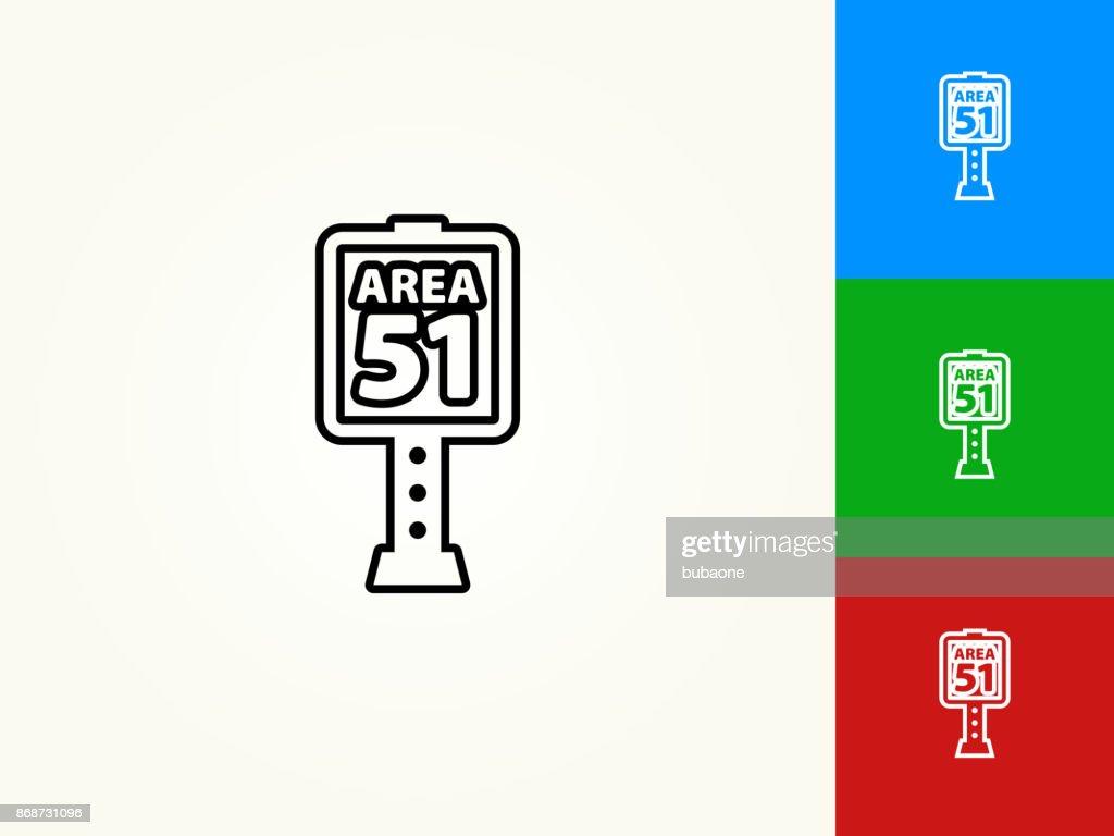 Area 51 Sign Black Stroke Linear Icon