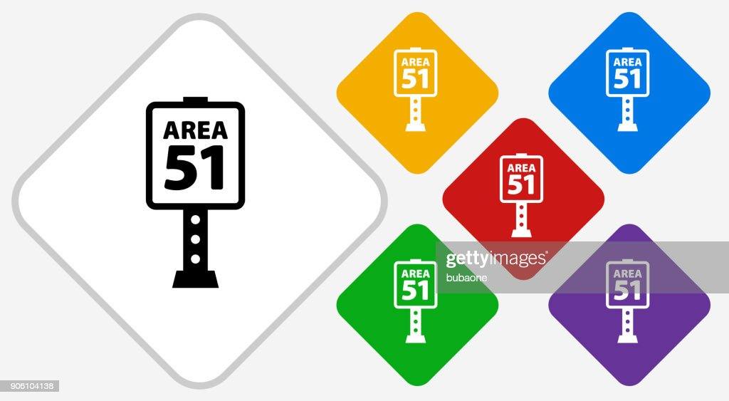 Area 51 Sign Color Diamond Vector Icon stock illustration - Getty Images