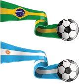 argentina & brazil flag