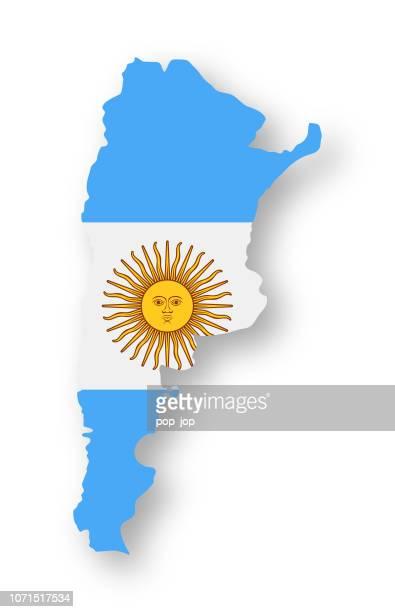 ilustraciones, imágenes clip art, dibujos animados e iconos de stock de argentina - contorno país bandera vector icono plana - bandera argentina