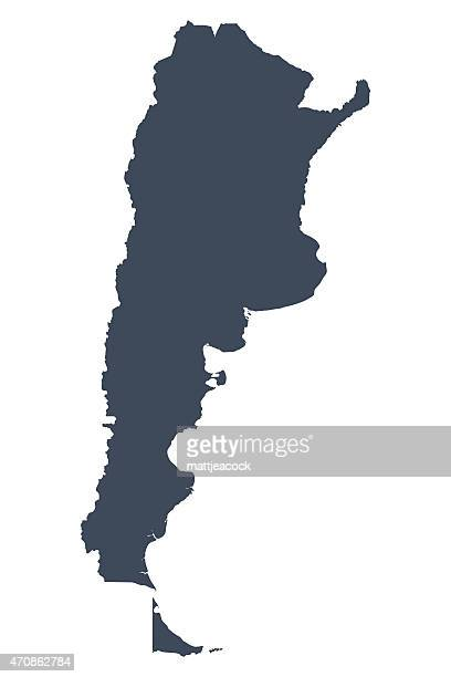 argentina country map - argentina stock illustrations