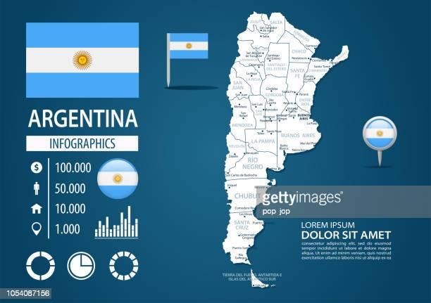 39 - argentina - dark murena bg infographic q10 - la plata argentina stock illustrations