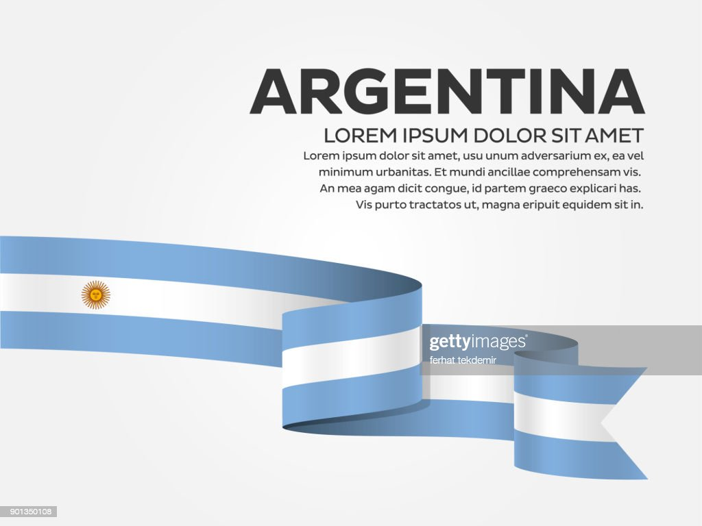Argentina flag on a white background