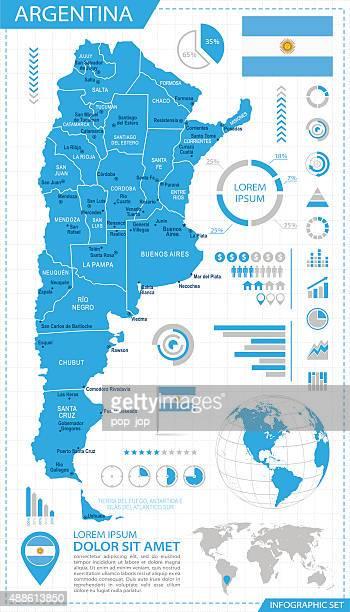 Argentina - infographic map - Illustration