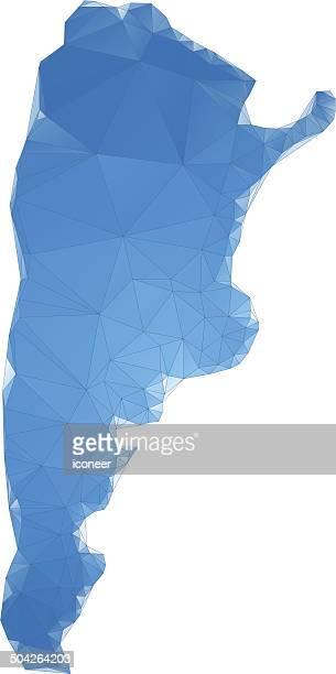 Mapa de Argentina Polígono Azul