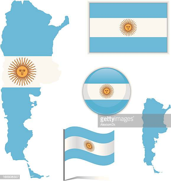 Mapa bandera Argentina &