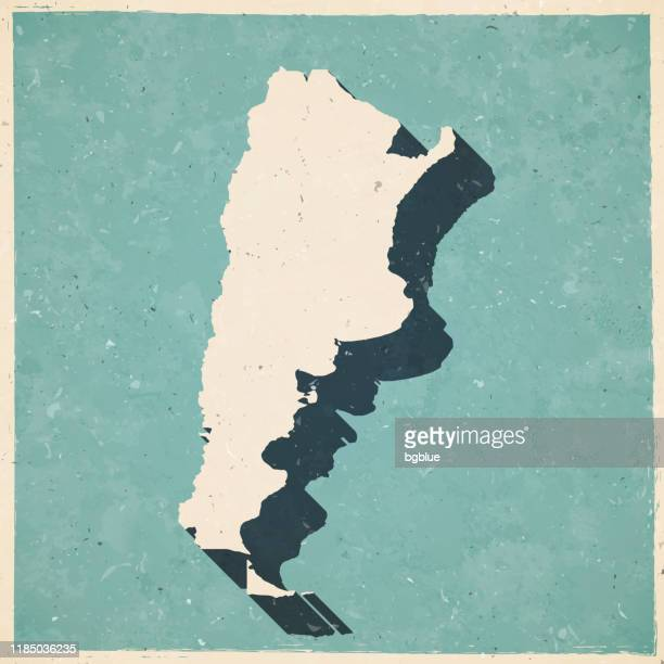 argentina map in retro vintage style - old textured paper - argentina stock illustrations
