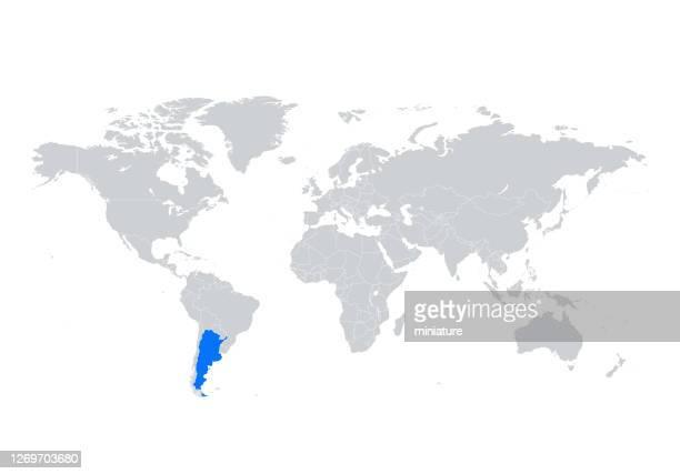 argentina map - argentina stock illustrations