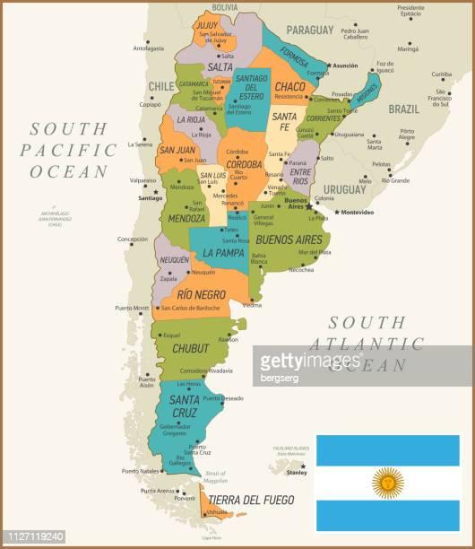 argentina map. vector illustration - la plata argentina stock illustrations