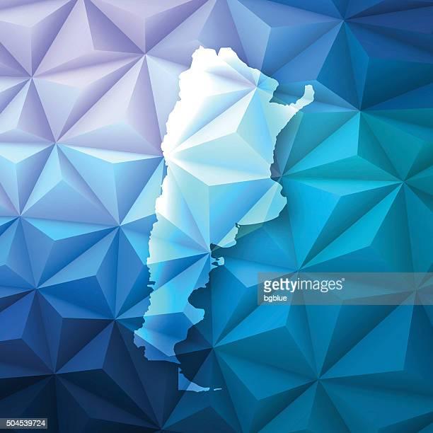 Argentinien auf abstrakte Polygonal Hintergrund-Low Poly, geometrische