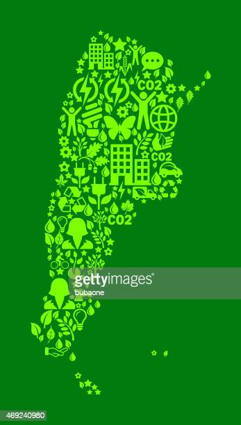 Argentina On Green Environmental Conservation and Nature Icon Pattern