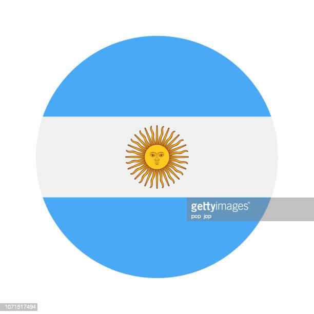 argentina - round flag vector flat icon - argentina stock illustrations