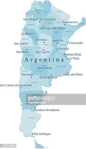 Argentina vetor mapa de regiões isoladas