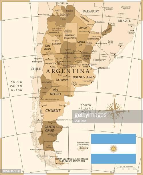 25 -argentina - vintage golden 10 - la plata argentina stock illustrations