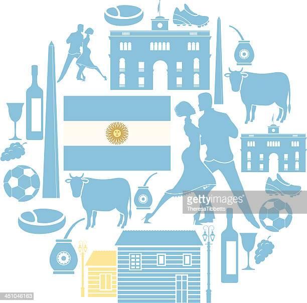 Conjunto de ícone da Argentina