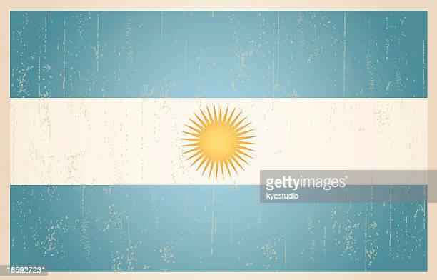 Argentinische grunge vintage-Flagge