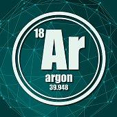 Argon chemical element.