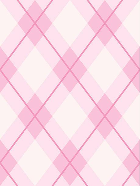 argyle seamless pattern pink - femininity stock illustrations
