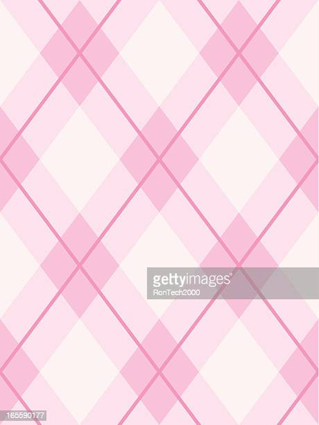 argyle seamless pattern pink - girly wallpapers stock illustrations