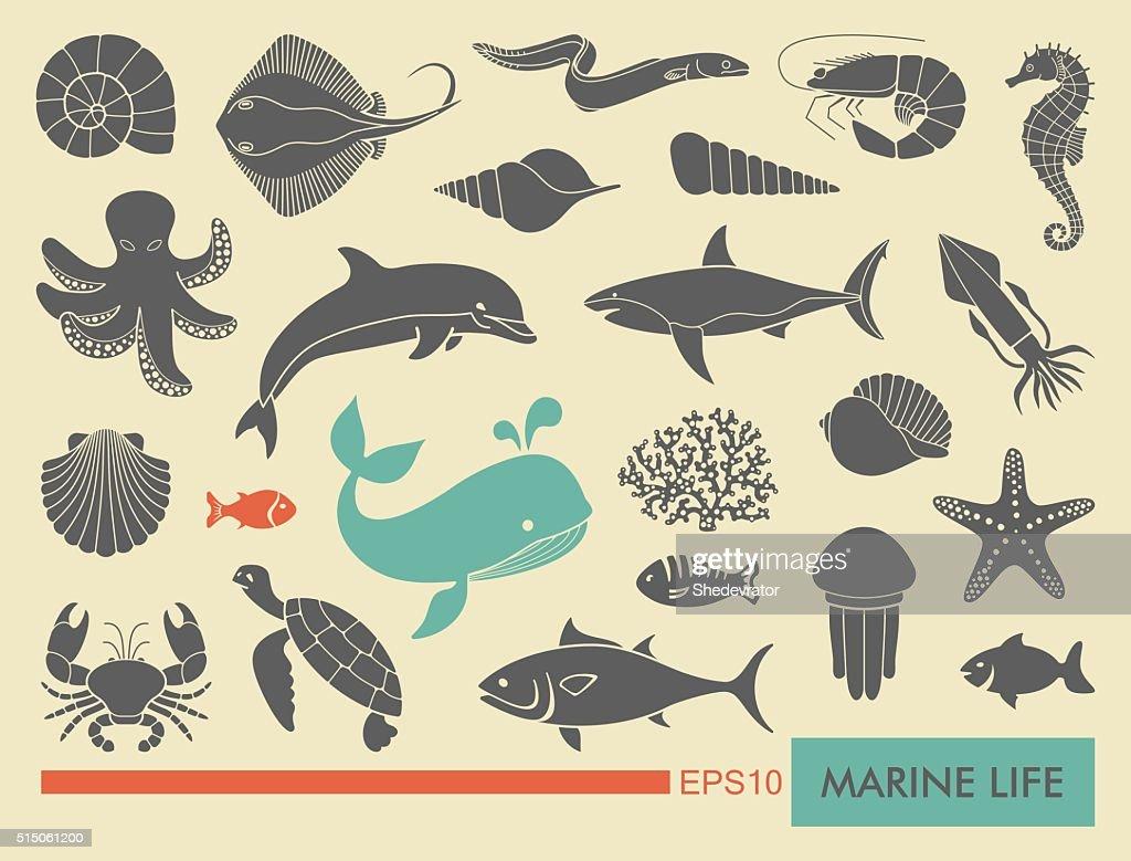 Мarine life icons