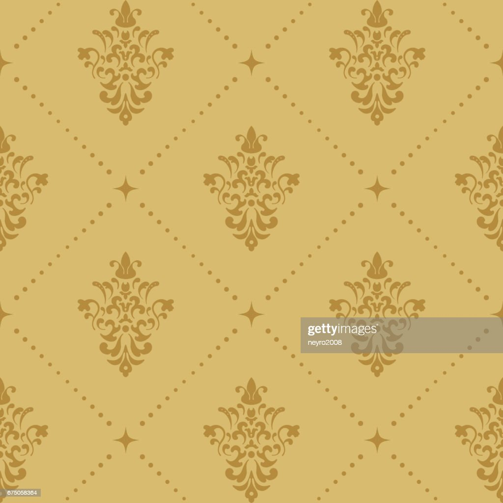 Aristocratic baroque wallpaper pattern