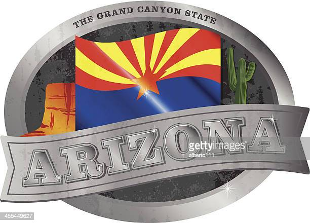 arizona belt buckle - tempo stock illustrations