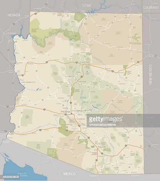 arizona map - arizona stock illustrations