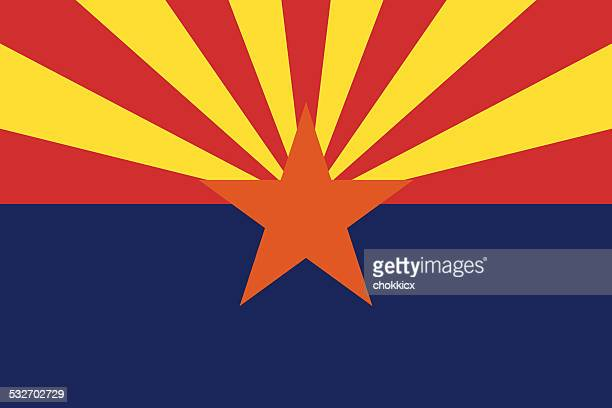 arizona state flag - 2015 stock illustrations