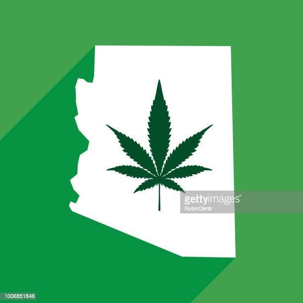 arizona state marijuana map - arizona stock illustrations