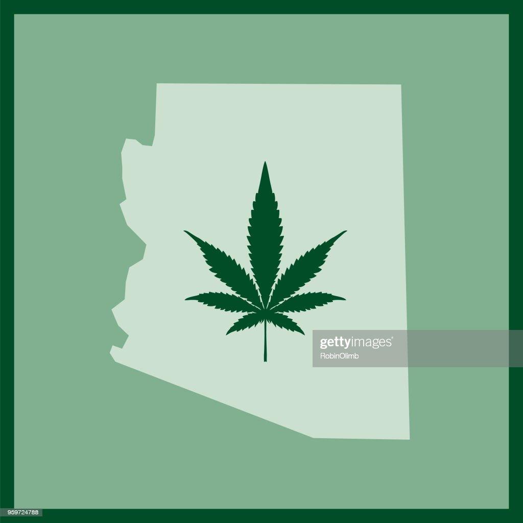 Arizona-Zustand-Marihuana-Karte : Stock-Illustration