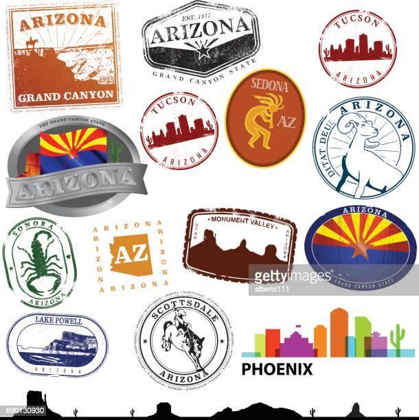 arizona travel graphics - arizona stock illustrations
