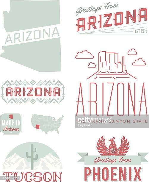 arizona typography - phoenix mythical bird stock illustrations, clip art, cartoons, & icons
