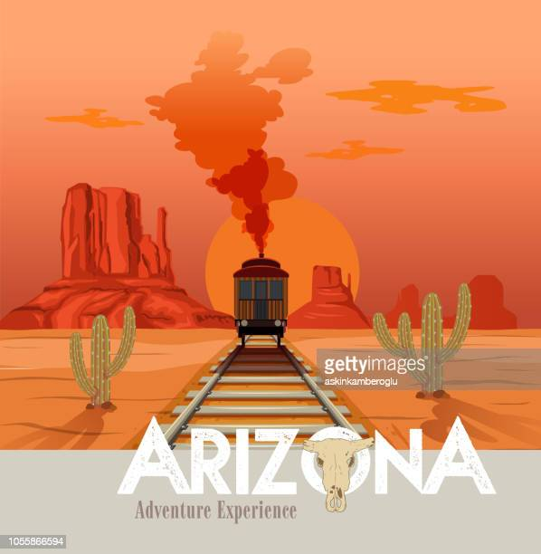 arizona - wild west stock illustrations