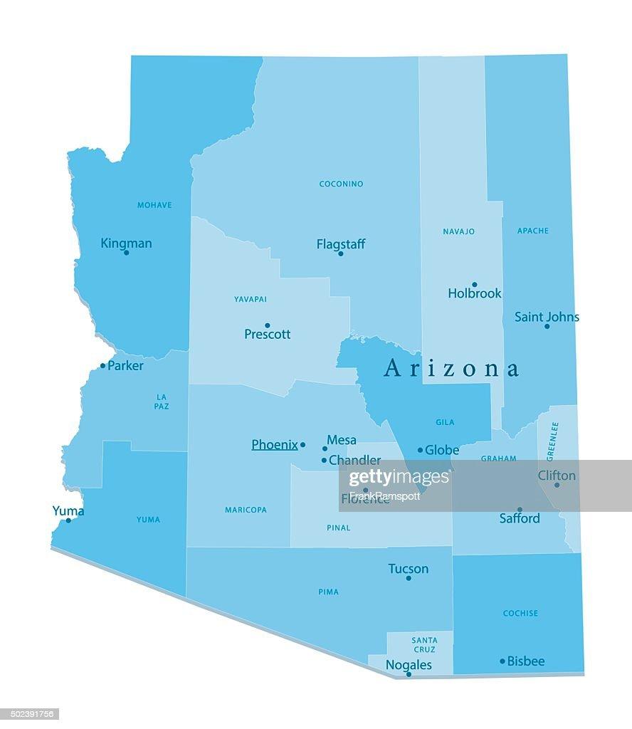 Arizona Vector Map Isolated