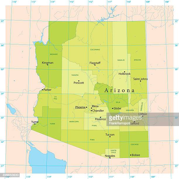 Arizona Vector Map