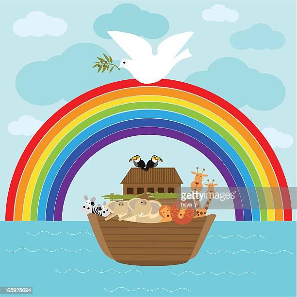 Arca de Noé e Pomba com Ramo de oliveira