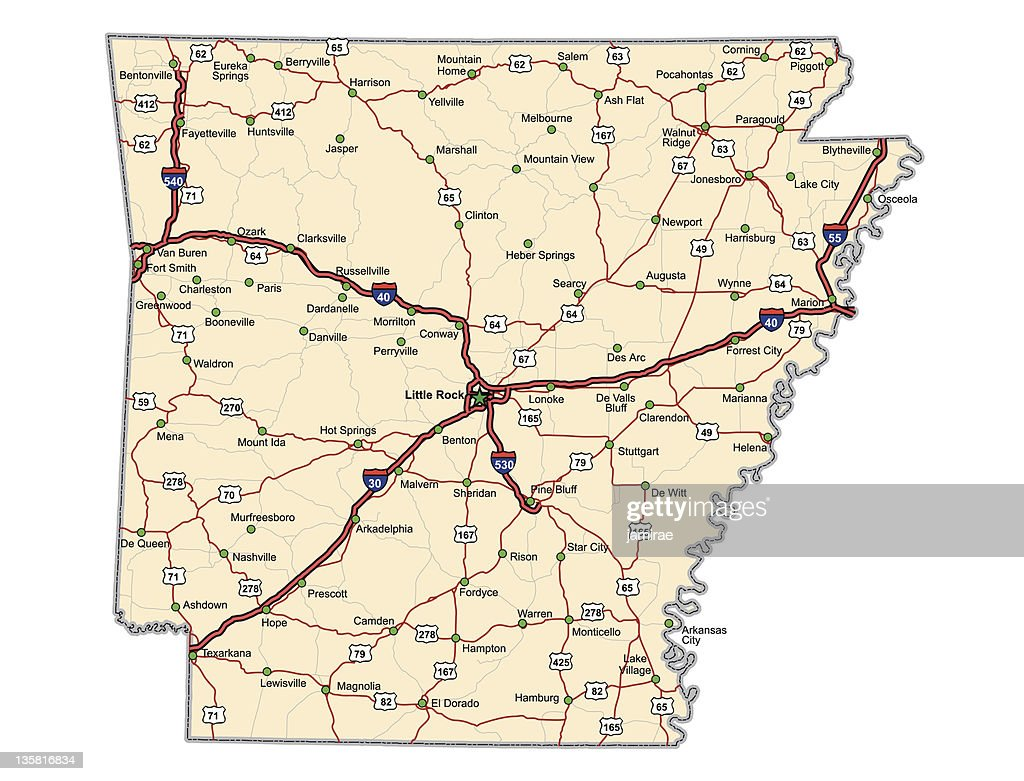 Arkansas Highway Map (vector)