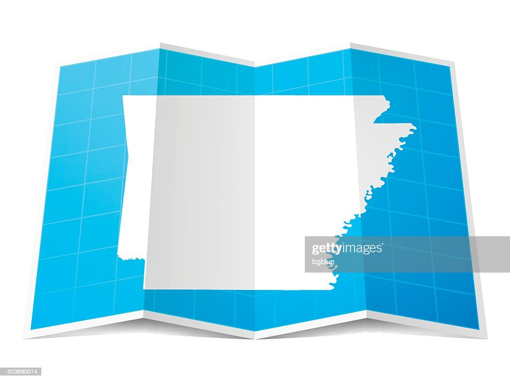 Folded Map-Arkansas