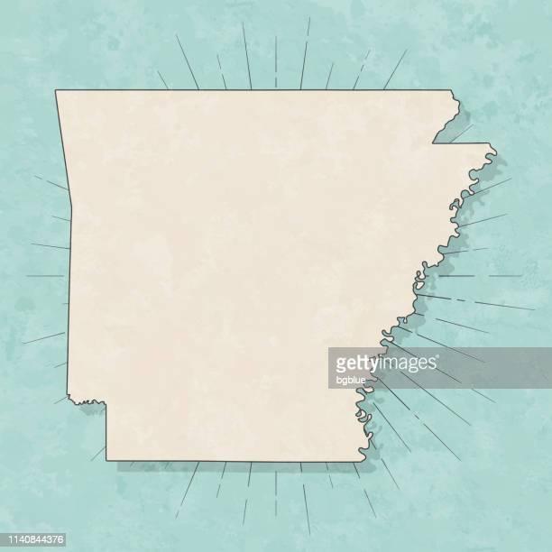 アーカンソー州の地図レトロヴィンテージスタイル-古いテクスチャー紙 - アーカンソー州点のイラスト素材/クリップアート素材/マンガ素材/アイコン素材